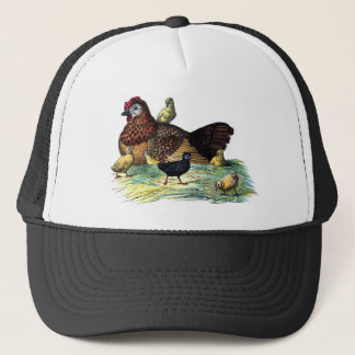 Chickens Vintage Animal Trucker Hat