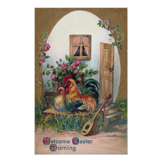 Chickens With Lute and Egg House Poster