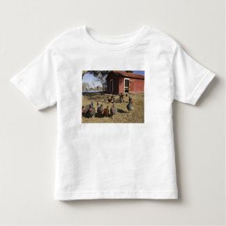 Chickens working grounds near hen house Cliburn T Shirt