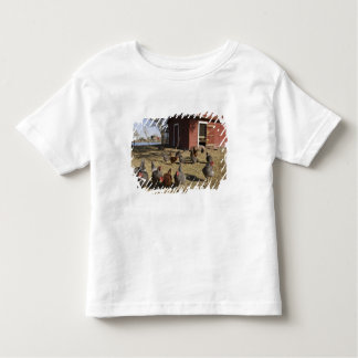 Chickens working grounds near hen house Cliburn Toddler T-shirt