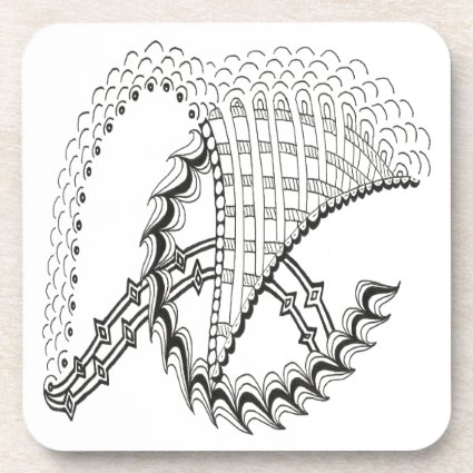Chickenwheel Abstract Doodle Beverage Coasters