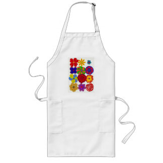 Chickie Apron Long - Flowers