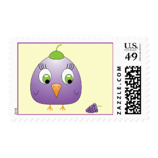 chickie B a Grape Postage Stamps