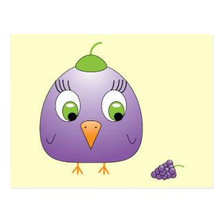 chickie B a Grape Postcard