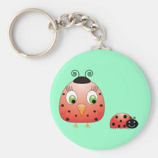 chickie B a Ladybug Keychain