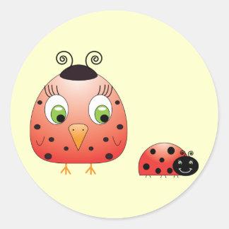 chickie B a Ladybug Sticker