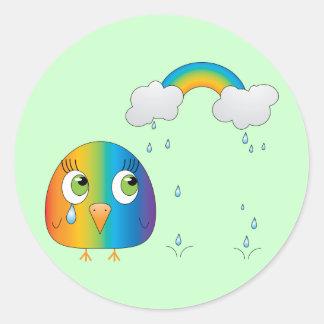 chickie B a Rainbow Sticker
