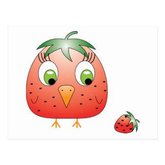 chickie B a Strawberry Postcard