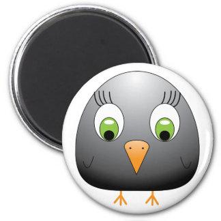chickie B black 2 Inch Round Magnet