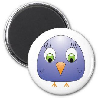 chickie B dark blue 2 Inch Round Magnet