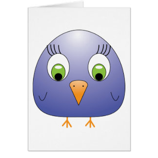 chickie B dark blue Card