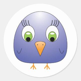 chickie B dark blue Classic Round Sticker