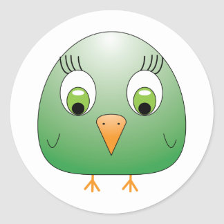chickie B green Classic Round Sticker