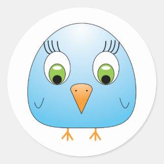 chickie B light blue Classic Round Sticker