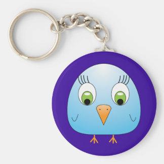 chickie B light blue Keychain