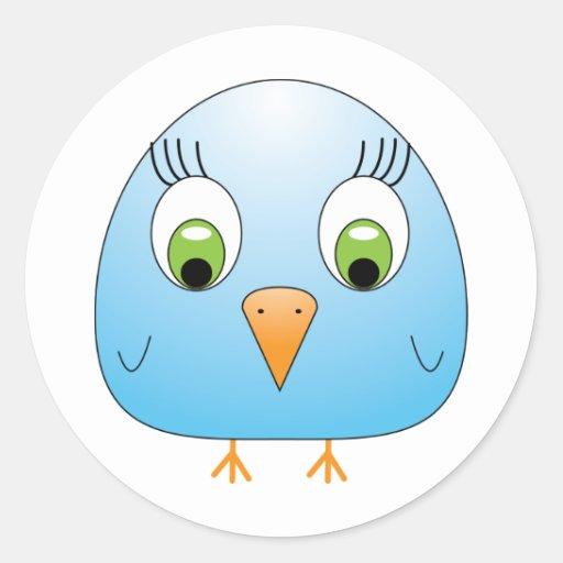 chickie B light blue Round Sticker