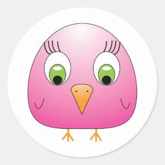chickie B Pink Classic Round Sticker