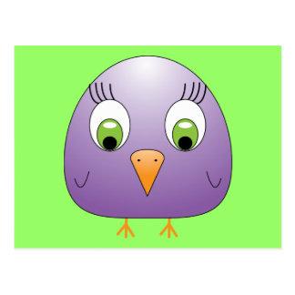 chickie B Purple Postcard