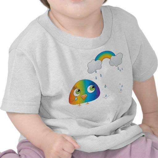 chickie B una camiseta del bebé del arco iris