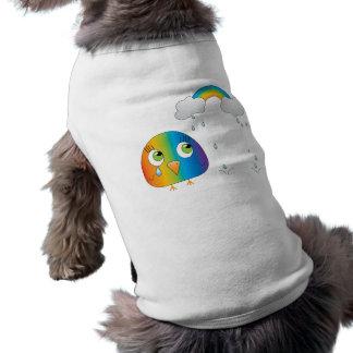 chickie B una ropa del mascota del arco iris Playera Sin Mangas Para Perro
