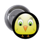 chickie B yellow Button