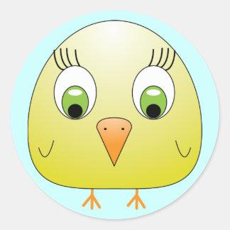 chickie B yellow Sticker