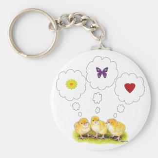 Chickie Daydreams Basic Round Button Keychain