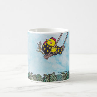 Chickie on a Swing an image to create smiles Coffee Mug