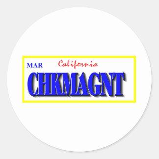 Chickmagnet Round Stickers
