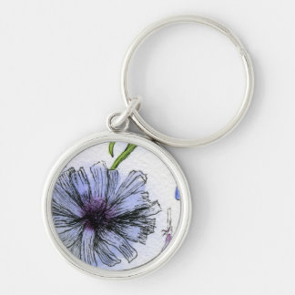 """""""Chickory"""" Floral Keychain"""
