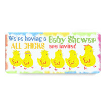 Chicks 2 Baby Shower Invitation