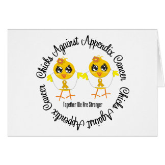 Chicks Against Appendix Cancer Greeting Cards
