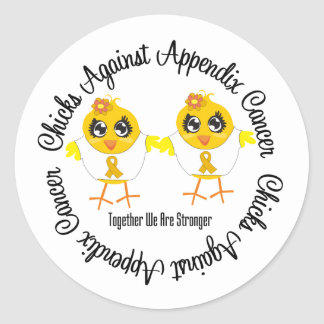 Chicks Against Appendix Cancer Stickers