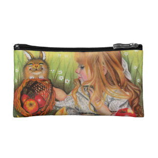 Chicks and bunnies pencil pouche /cosmetic bag