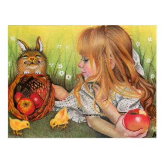 Chicks and Bunnies postcard