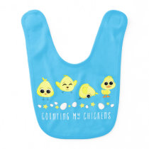Chicks and Duckling Counting My Chickens Saying Baby Bib
