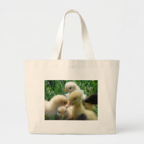 Chicks and Ducklings Large Tote Bag