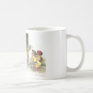 Chicks at School and Rooster Teacher Coffee Mug
