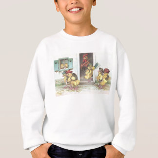Chicks at School and Rooster Teacher Sweatshirt