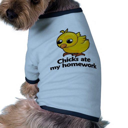 Chicks ate my homework doggie tee