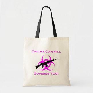 Chicks Can Kill Zombies Too Tote Bag