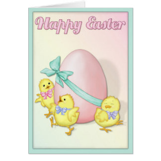Chicks Celebrate Easter Card
