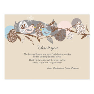 baby chick design Thank you card