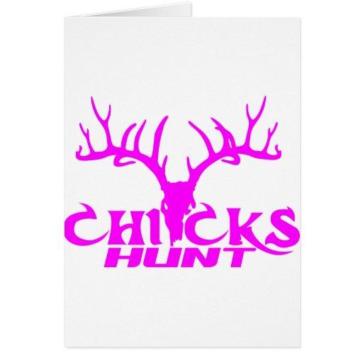 CHICKS DEER HUNT CARDS