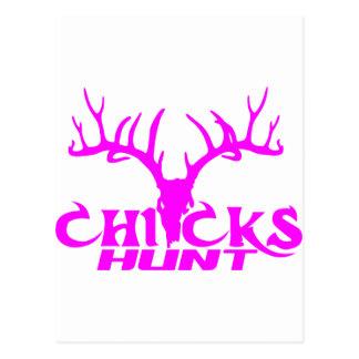 CHICKS DEER HUNT POSTCARD