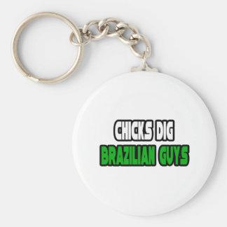 Chicks Dig Brazilian Guys Key Chain