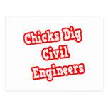 Chicks Dig Civil Engineers Postcards