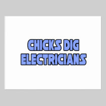 Chicks Dig Electricians Post Cards