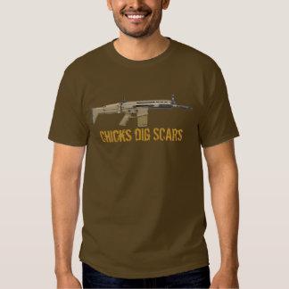 Chicks Dig (FN) Scars Tee Shirt