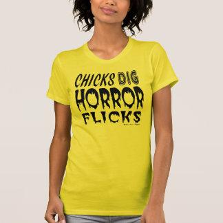 Chicks Dig Horror Flicks T-Shirt